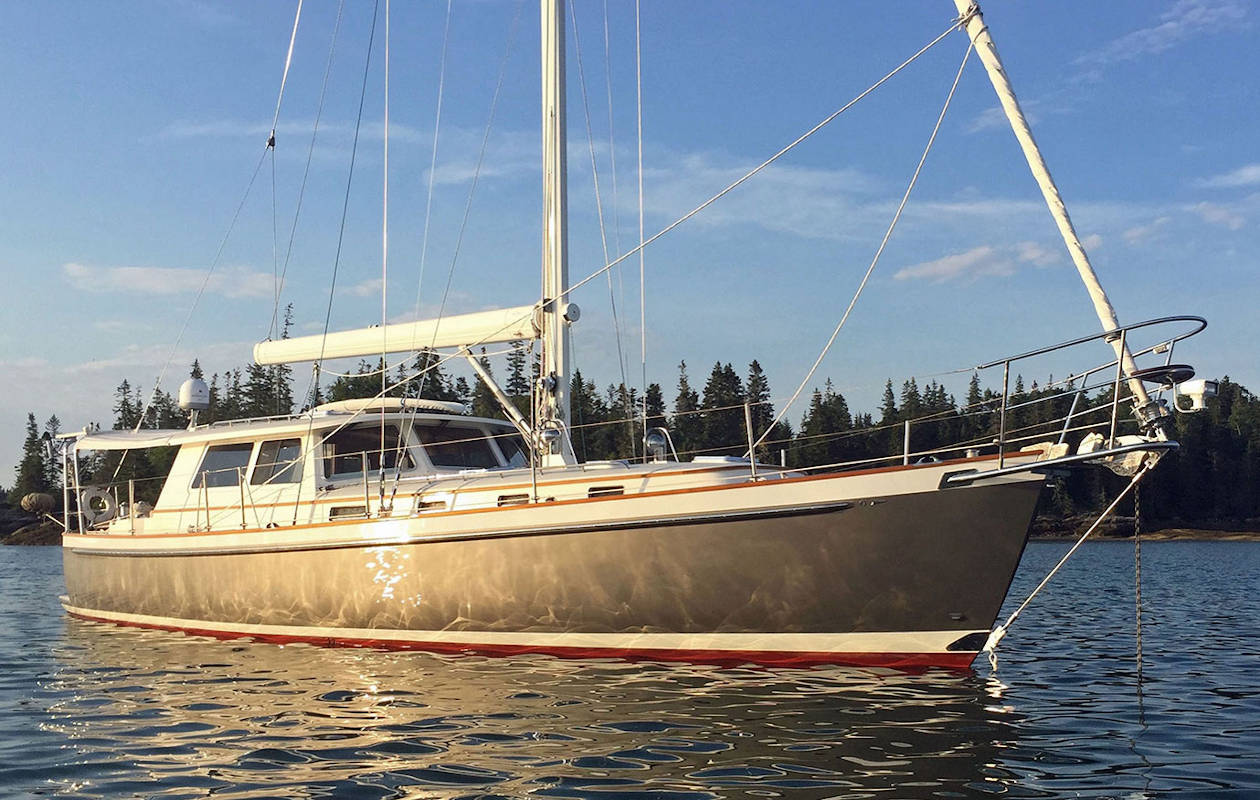 Bruckman 50 Sailboat anchored